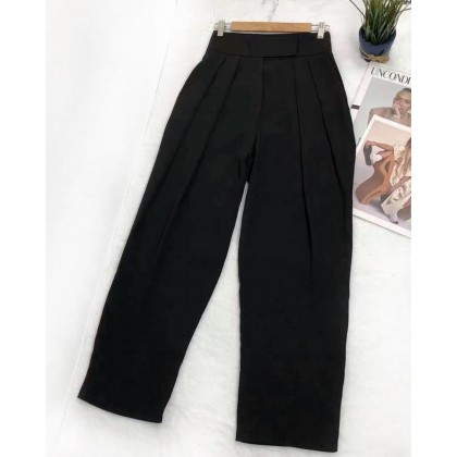 HIGH WAIST PLEATED SUIT TROUSERS
