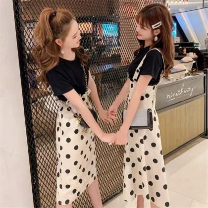 Sweet Strap Polka Dot Skirt