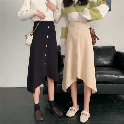 Knitting High Waist Skirt