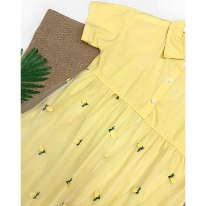 Polo Neck Mesh Patchwork Dress