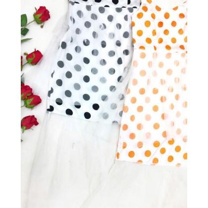 Sling Polka Dot Mesh Dress