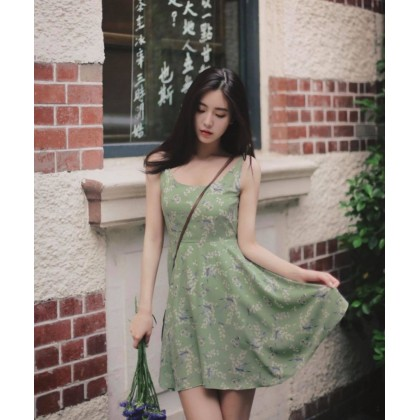 Small Fresh Sling Floral Dress