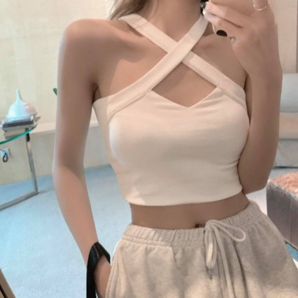 SIMPLE AND STYLISH SEXY CROPPED TOP