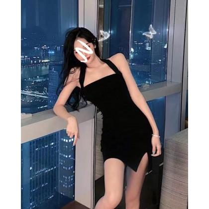 Korean Style Halter Slim Hip Dress