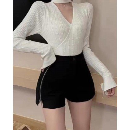 EASY MATCHING AND CASUAL HIGH-WAISTED SHORTS