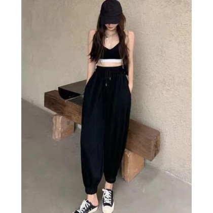 SPORTY AND COMFORTABLE BLACK TROUSERS