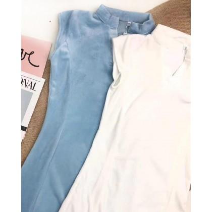 ELEGANT V-NECK SHORT SLEEVE DRESS