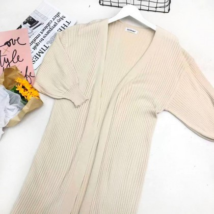 CASUAL MID-LENGTH KNITTED CARDIGAN