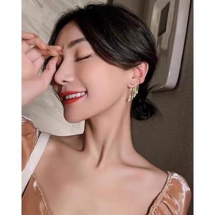 KOREAN STYLE TASSEL EARRINGS+EAR BONE CLIP